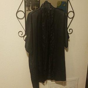 Black Fredrick's sexy black satin robe